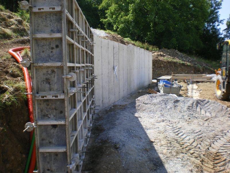 Niveau 0 archive at notre maison en bois - Mur beton banche ...