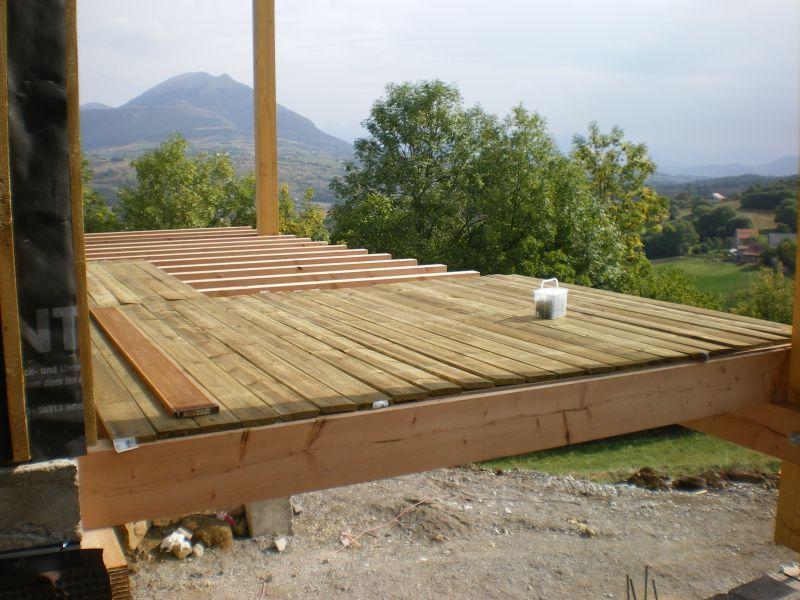 26 septembre structure de la terrasse ext rieure pos e for Chape terrasse exterieure
