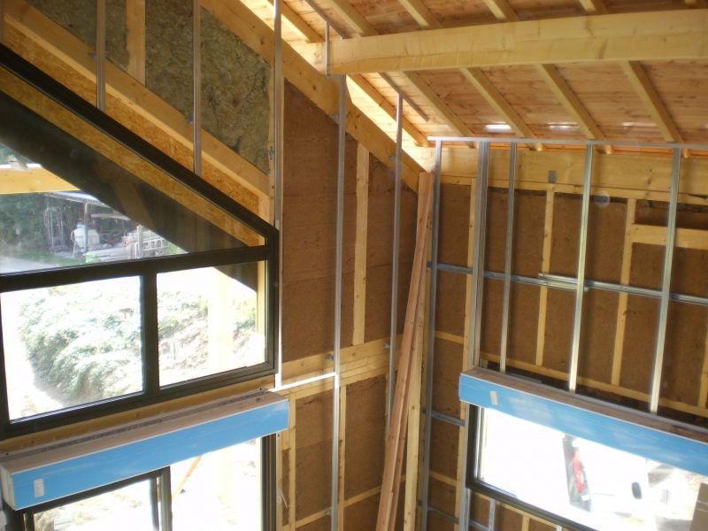 4 octobre terrasse et ossature m tallique at notre maison en bois. Black Bedroom Furniture Sets. Home Design Ideas