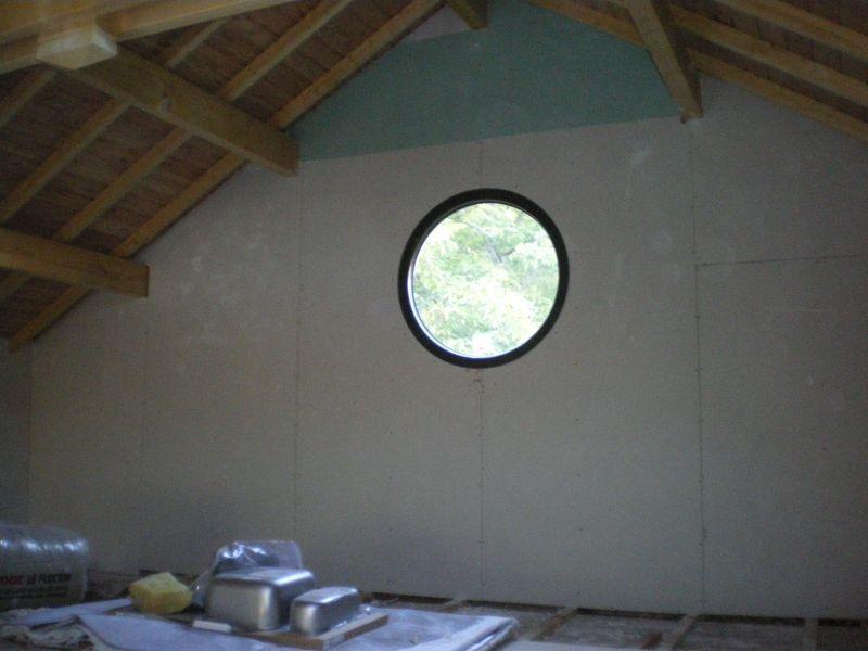 11 octobre fin du travail des plaquistes at notre maison. Black Bedroom Furniture Sets. Home Design Ideas