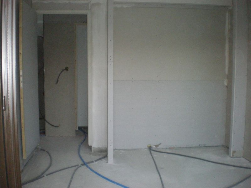 25 octobre fin du placo et rangement du chantier at - Faire un placard mural ...